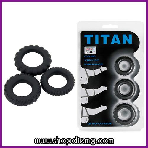 Bộ 3 vòng đeo dương vật titan, giữ cương cứng tăng thời gian quan hệ