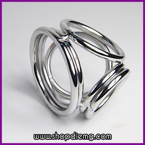 Cụm 4 vòng inox đeo cu tăng cương cứng