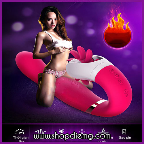 Máy liếm và rung điểm G cao cấp Dave - massage kích thích âm vật phụ nữ
