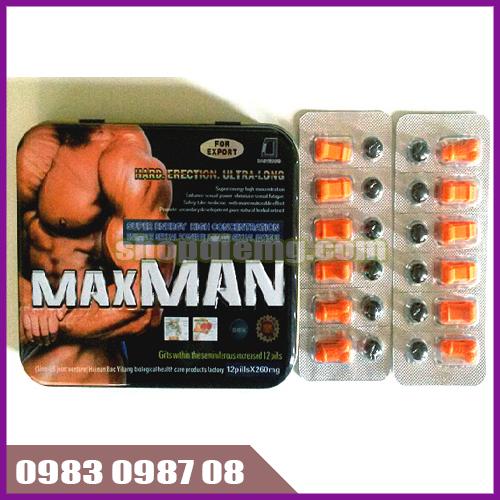 Thuốc cường dương Maxman 24 viên 260mg