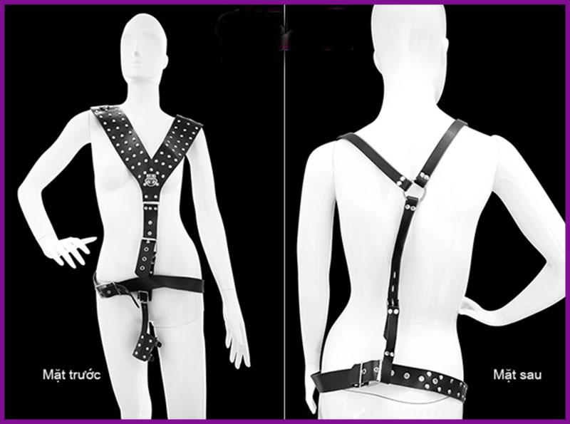 Bộ dây trói toàn thân dây da