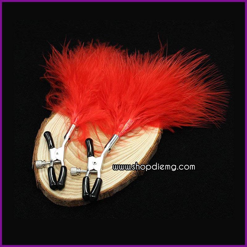 Bộ kìm kẹp vú và chổi lông vũ 2