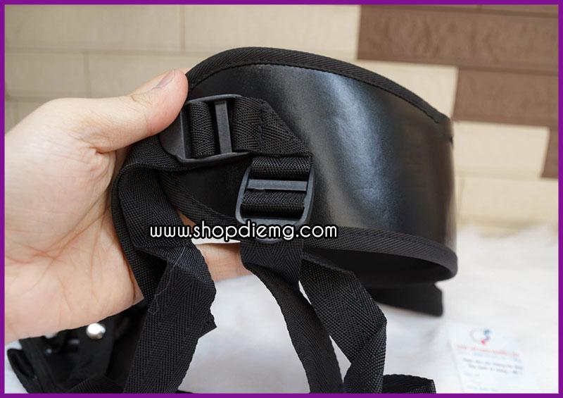 Cu giả dây đeo đặc ruột màu đen less 2