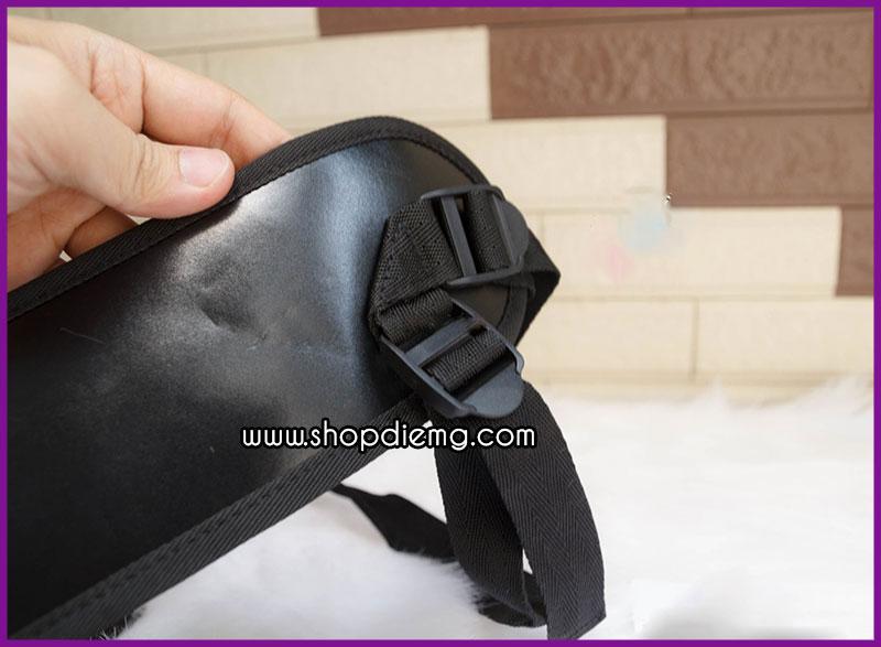 Cu giả dây đeo đặc ruột màu đen less 3