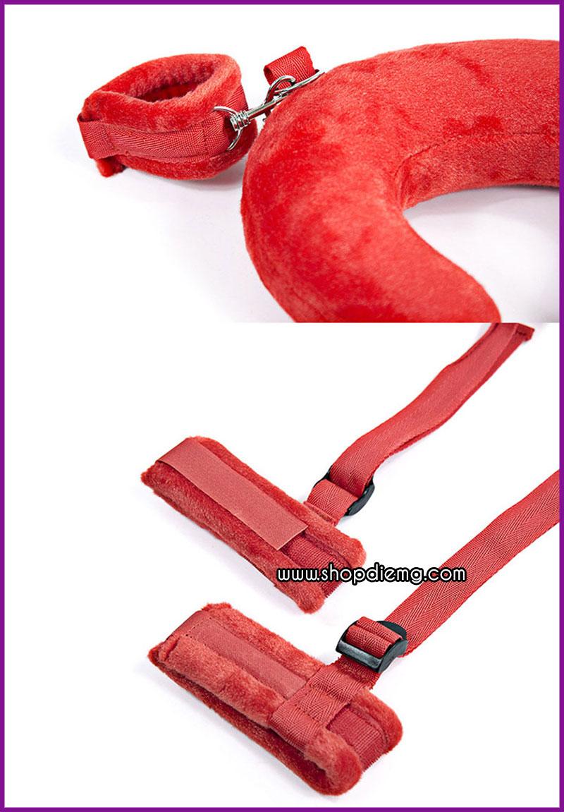 Bộ trói tay chân cổ có đệm lót bông 1