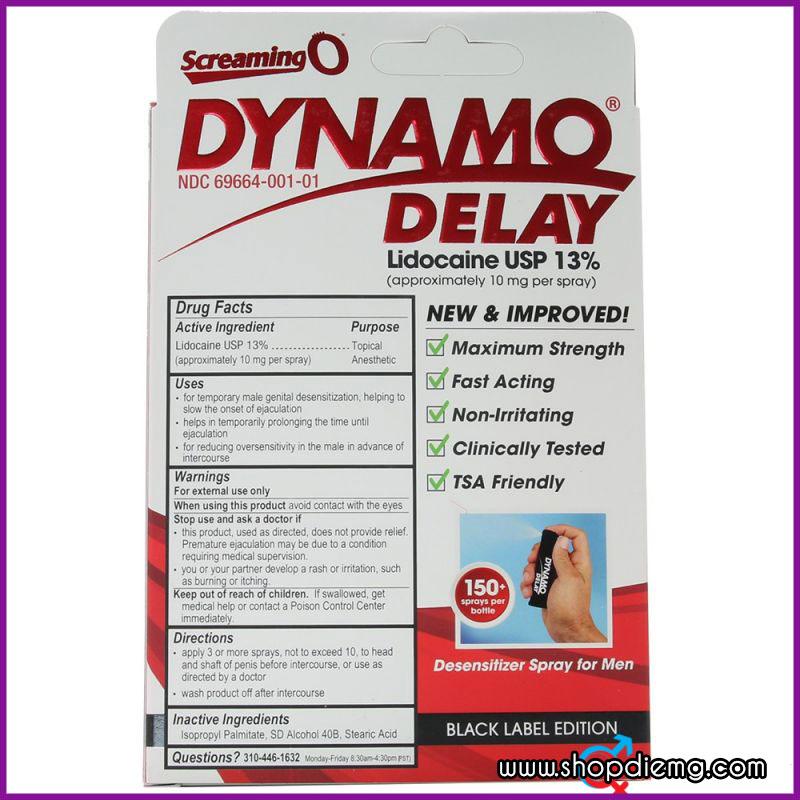 Thuốc Xịt Kéo Dài Thời Gian Dynamo Delay Black Label Edition