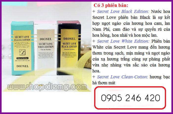 Dionel secret love 5ml nước hoa xịt vùng kín Hàn Quốc 2