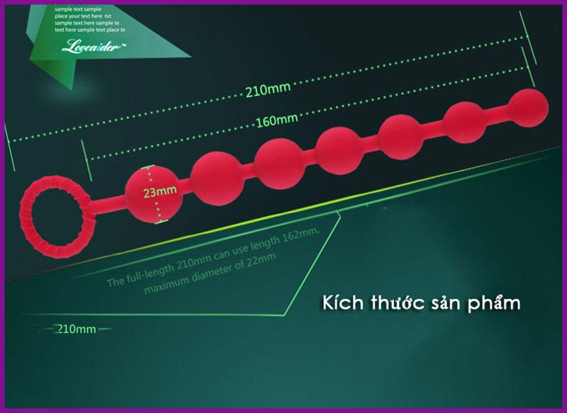Chuỗi hạt kích thích hậu môn loveaider 7