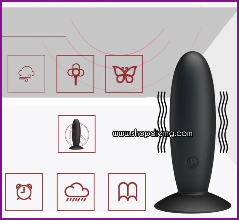 Máy rung masage mini hít tường điều khiển từ xa pretty love