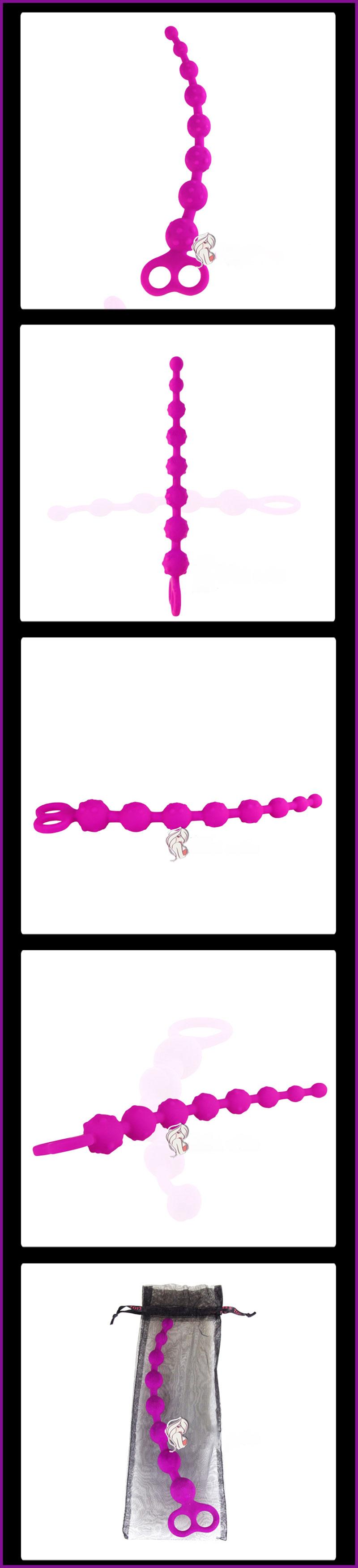 Sextoy matxa hậu môn, hạt dây, bi nổi mềm 4