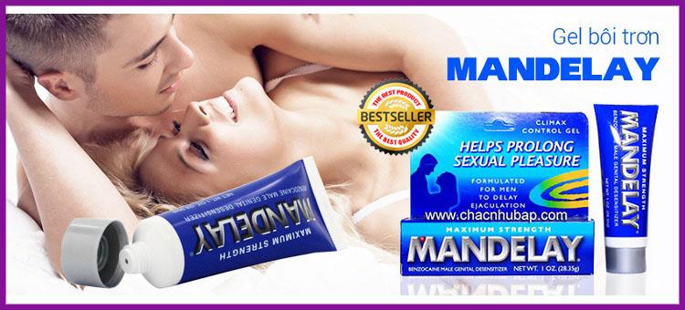 Mandelay USA gel (kem, thuốc) bôi trơn kéo dài thời gian quan hệ