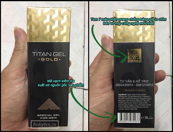 phân biệt gel titan gold nga chính hãng