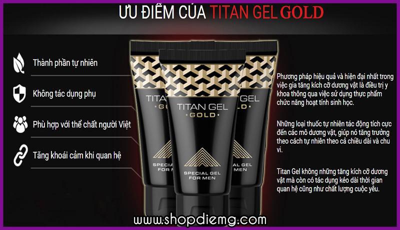 Titan gel gold Nga tăng kích thước cậu nhỏ bằng phương pháp tự nhiên