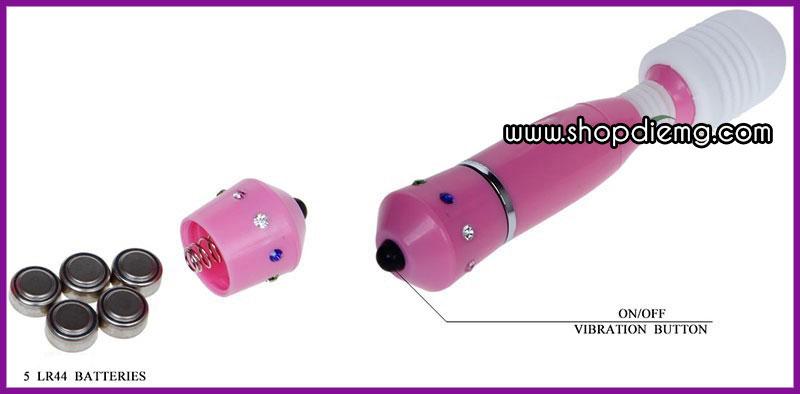 Máy massage âm đạo loại nhỏ, chày rung mini 3 đầu 2