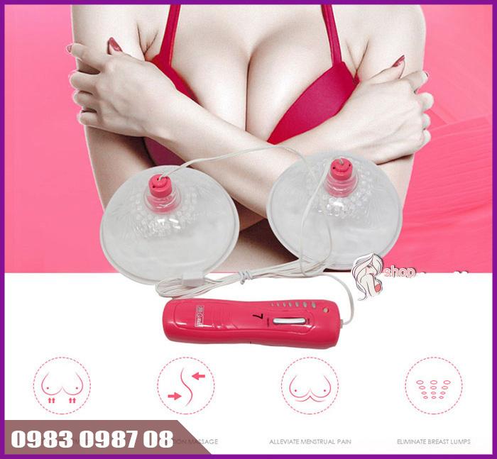 Cách làm tăng kích cỡ (size) vòng 1 với máy massage ngực Momo 2