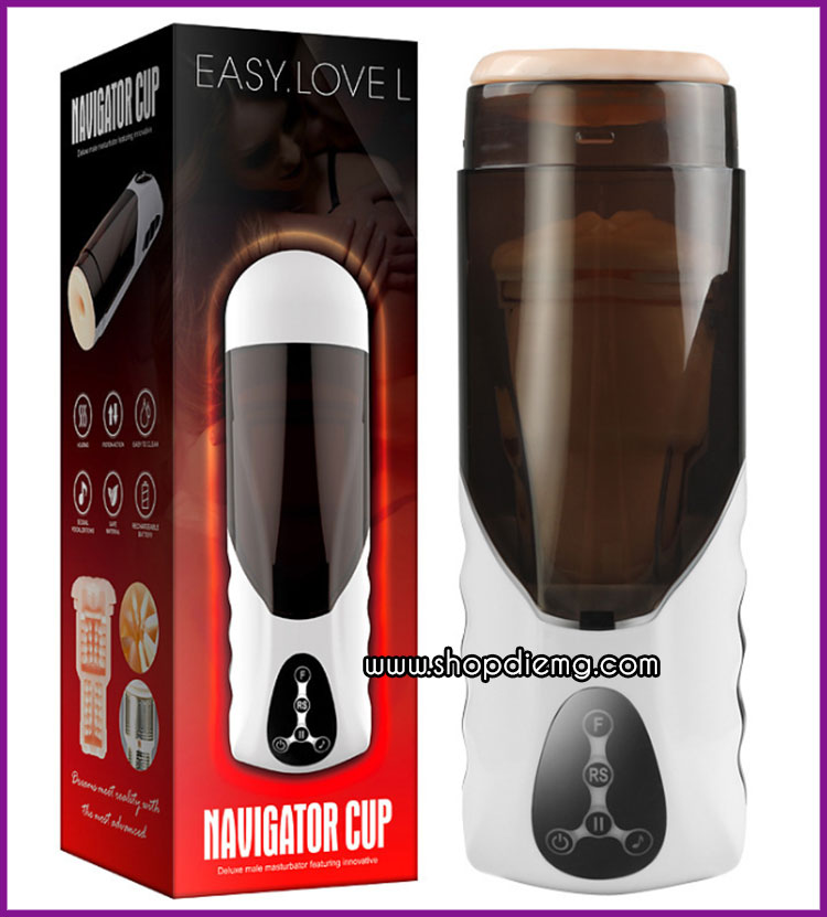 Máy bú liếm dương vật Navigator Cup phát âm thanh, điều chỉnh nhiệt 6