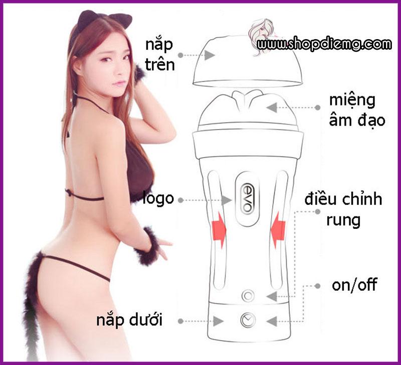 Máy thủ dâm âm đạo giả ngụy trang đèn pin cao cấp EVO 8