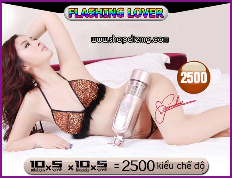 Máy thủ dâm tự động gắn tường Flashing Lover 5