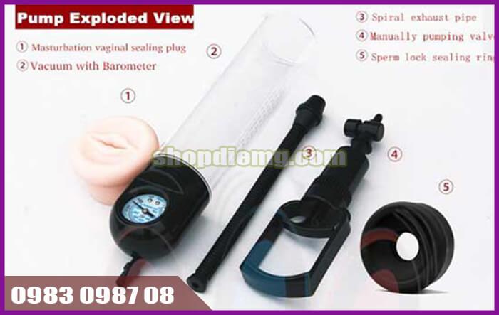 Dụng cụ (máy tập) làm to bộ phận sinh dục Worx VX2
