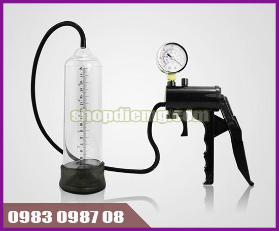Máy tập tăng kích cỡ cậu nhỏ Semo Penis Pump có thước đo, đồng hồ theo dõi