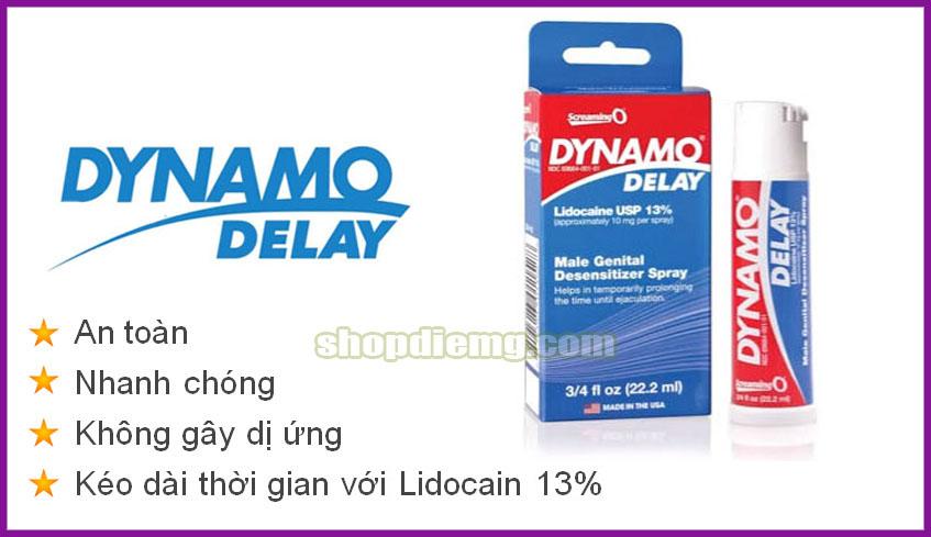 Dynamo delay USA thuốc xịt kéo dài thời gian quan hệ tốt nhất