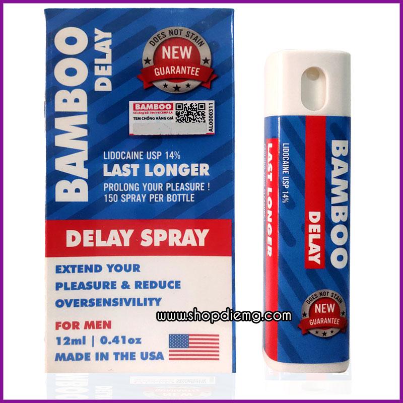 Bamboo Delay Spray USA 12ml trị xuất tính sớm tốt nhất cho nam