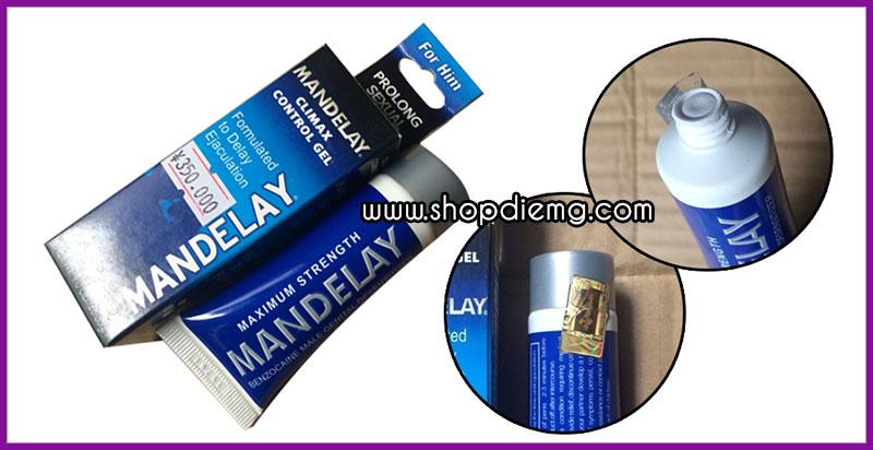 Mandelay USA gel (kem, thuốc) bôi trơn kéo dài thời gian quan hệ 5