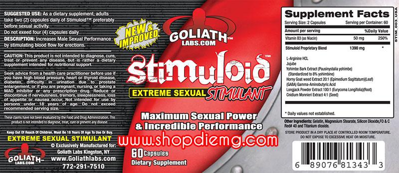 Thuốc hỗ trợ sinh dục nam Stimuloid chơi lâu ra review