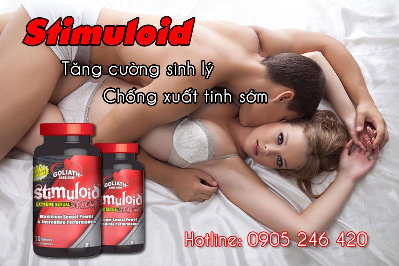 Thuốc hỗ trợ sinh dục nam Stimuloid chơi lâu ra 1