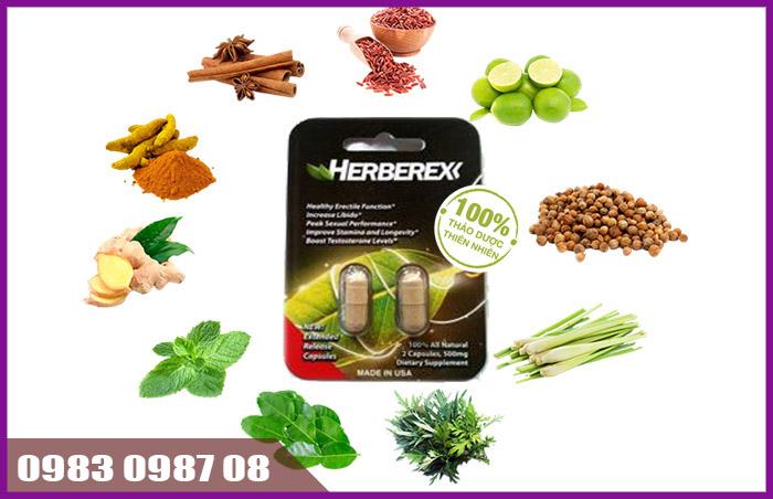 Herberex thuốc uống tăng cường sinh lý nam giới tốt nhất