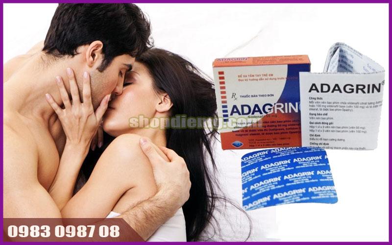 Thuốc cường dương Adagrin 50mg, tăng cảm giác hưng phấn cực mạnh