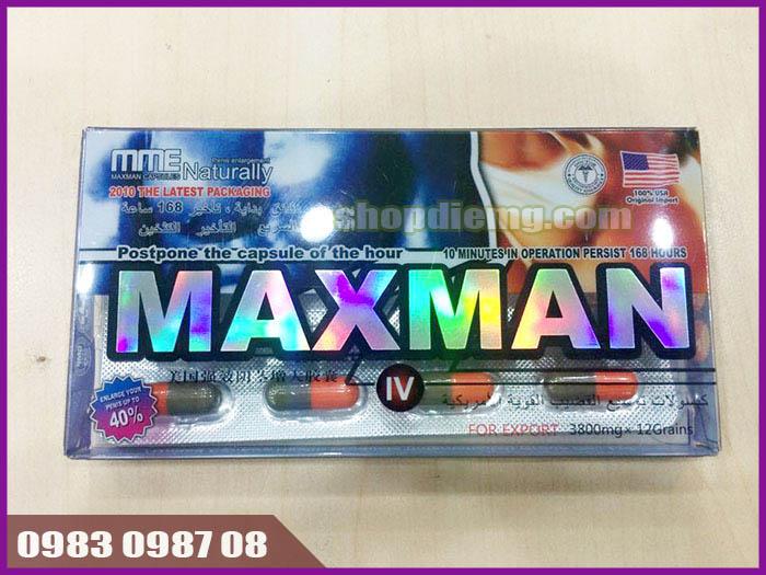 Thuốc tăng cường sinh lý maxman 3800mg 12 viên nhộng