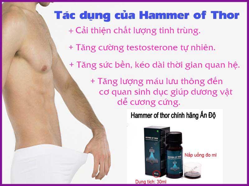 Thuốc Hammer Of Thor chính hãng - cải thiện sinh lý nam giới cực mạnh
