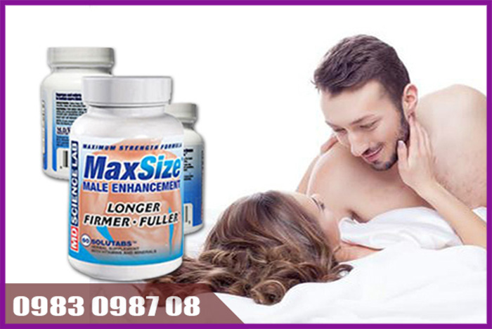 Thuốc tăng kích thước cậu nhỏ tối đa Maxsize đến từ Mỹ