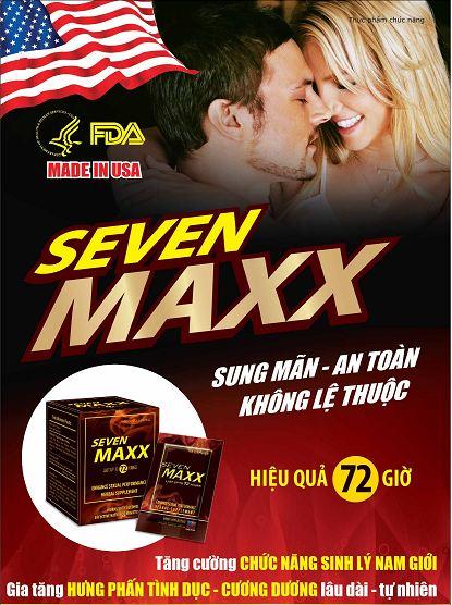 Thuốc thảo dược Seven Maxx USA, tăng mạnh ham muốn quan hệ