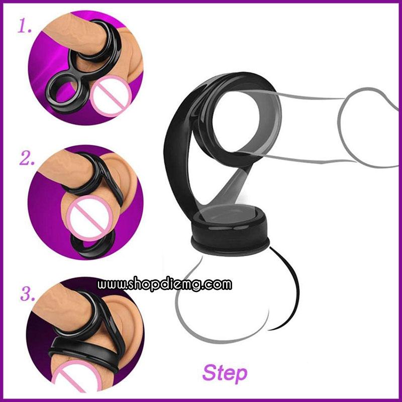 Vòng silicon buộc thắt đeo chống xuất tinh sớm 2