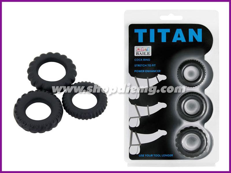 Bộ 3 vòng đeo dương vật titan, giữ cương cứng tăng thời gian quan hệ 2