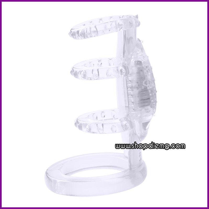 Vòng đeo dương vật có cục rung kích thích bên trong âm đạo 1
