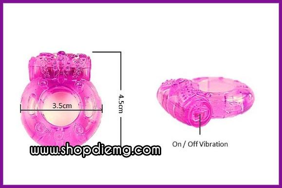 Vòng rung gai silicon thay pin, kích thích điểm g phụ nữ cực mạnh 2